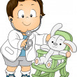 Toddler Boy Doctor — Stock Photo #26420125