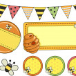 Stock Photo: Bee Party Design Elements