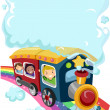 Stock Photo: Kids on Rainbow Train 2