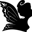 Silhouette of a Fairy Girl — Stock Photo