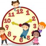 Kids on a Big Clock — Stock Photo #26420373