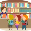 Stock Photo: Kids in Library