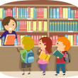 Royalty-Free Stock Photo: Kids in a Library