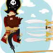 Pirate Walking the Plank for Execution — Stock Photo