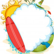 Blank Cloud Summer Design - Stock Photo