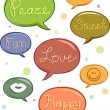 Speech Balloons with Words — Stock Photo