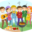 Barbeque Party — Stock Photo