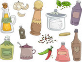 Spices and Condiments — Stock Photo