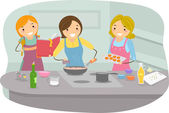 Women Cooking — Stock Photo