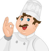 Chef giving an OK sign — Stock Photo