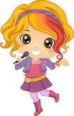Little Girl Pop Star — Stock Photo