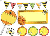 Bee Party Design Elements — Stock Photo