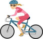 Girl Cycling for Triathlon — Stock Photo