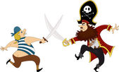 Pirates Swordfighting — Stock Photo