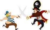 Pirates Swordfighting — Stock Photo