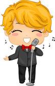 Little Boy Singing — Stock Photo