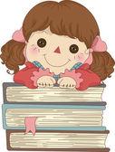 Szmacianej lalki z książki — Zdjęcie stockowe