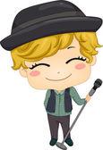 Little Boy Pop Star — Stock Photo