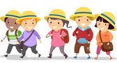 Kids with Uniform Hat — Stock Photo