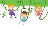 Kids as Fairies for Stage Play — Stock Photo