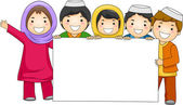 Illustration of Muslim children — Stock Photo