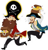 Pirates Treasure Chase — Stock Photo