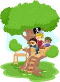 Pirate Boys on a Tree — Stock Photo
