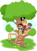 Pirate Boys on a Tree — Stock Photo