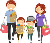 Family Grocery — Stock Photo