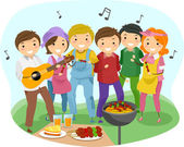 Barbeque Party — 图库照片