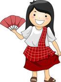 Girl wearing Traditional Philippine Costume — Stock Photo