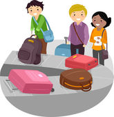Airport Luggage Carousel — Stock Photo