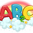 Rainbow ABC and 123 — Stock Photo