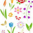 Flowers Stencil — Stock Photo