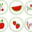 Stock Photo: Red Fruits Sticker Designs