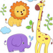 Stock Photo: Safari Animals Sticker Designs