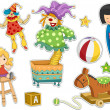 Toys Sticker Design — Stock Photo