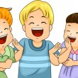 Little Kids Laughing — Stock Photo
