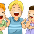 Little Kids Laughing — Stock Photo #27648215