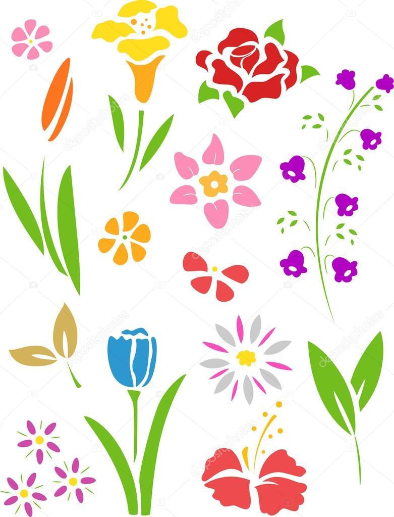 Рисунки цветов фото шаблоны