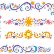 Sun, Moon, and Stars Border — Stock Photo