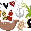 Pirate Birthday Design Elements 2 — Stock Photo