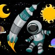 Outer Space Design Elements — Stock Photo
