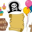 Pirate Birthday Design Elements — Stock Photo #30787501