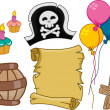 Pirate Birthday Design Elements — Stock Photo