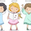 Stock Photo: Angels Praising with Music