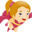 Little Kid Girl Flying — Stock Photo