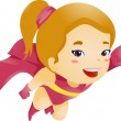 Stock Photo: Little Kid Girl Flying