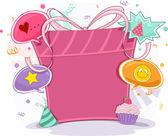Birthday Gift Frame Background — Stock Photo