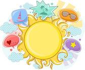 Summer Sun Frame Background — Stock Photo